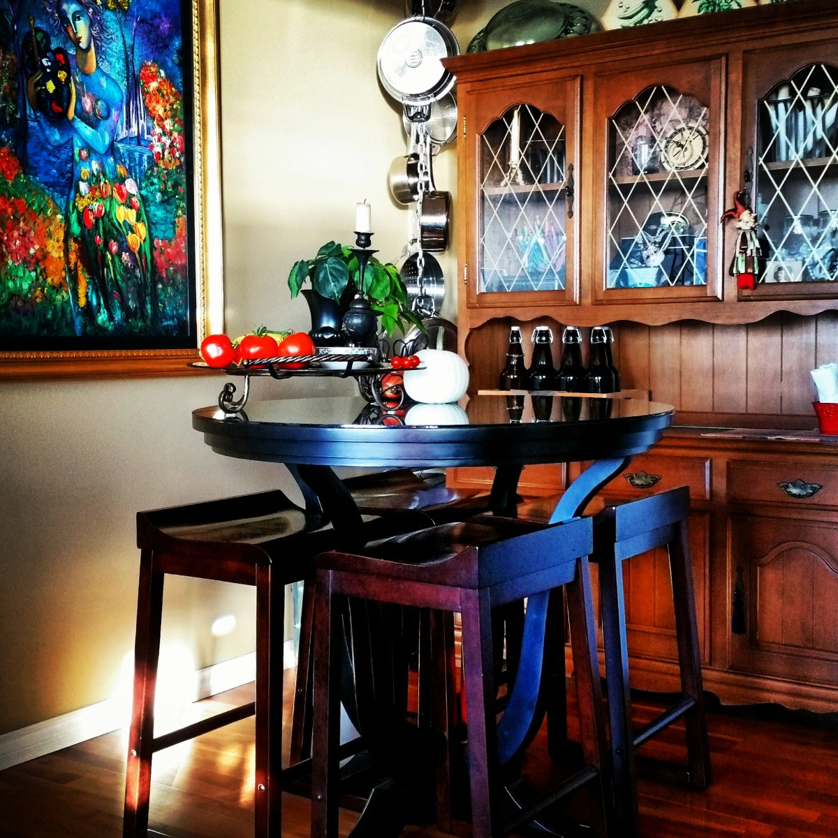 The Flat Surface Factor. The only table in our home, beautiful as it is, was a purchasing mistake.