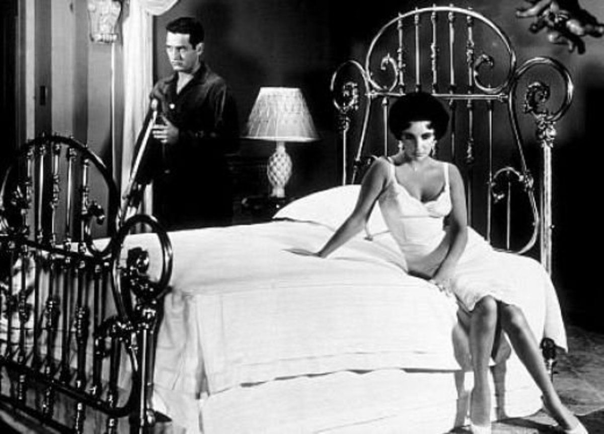 With Paul Newman in 'Cat on a Hot Tin Roof'