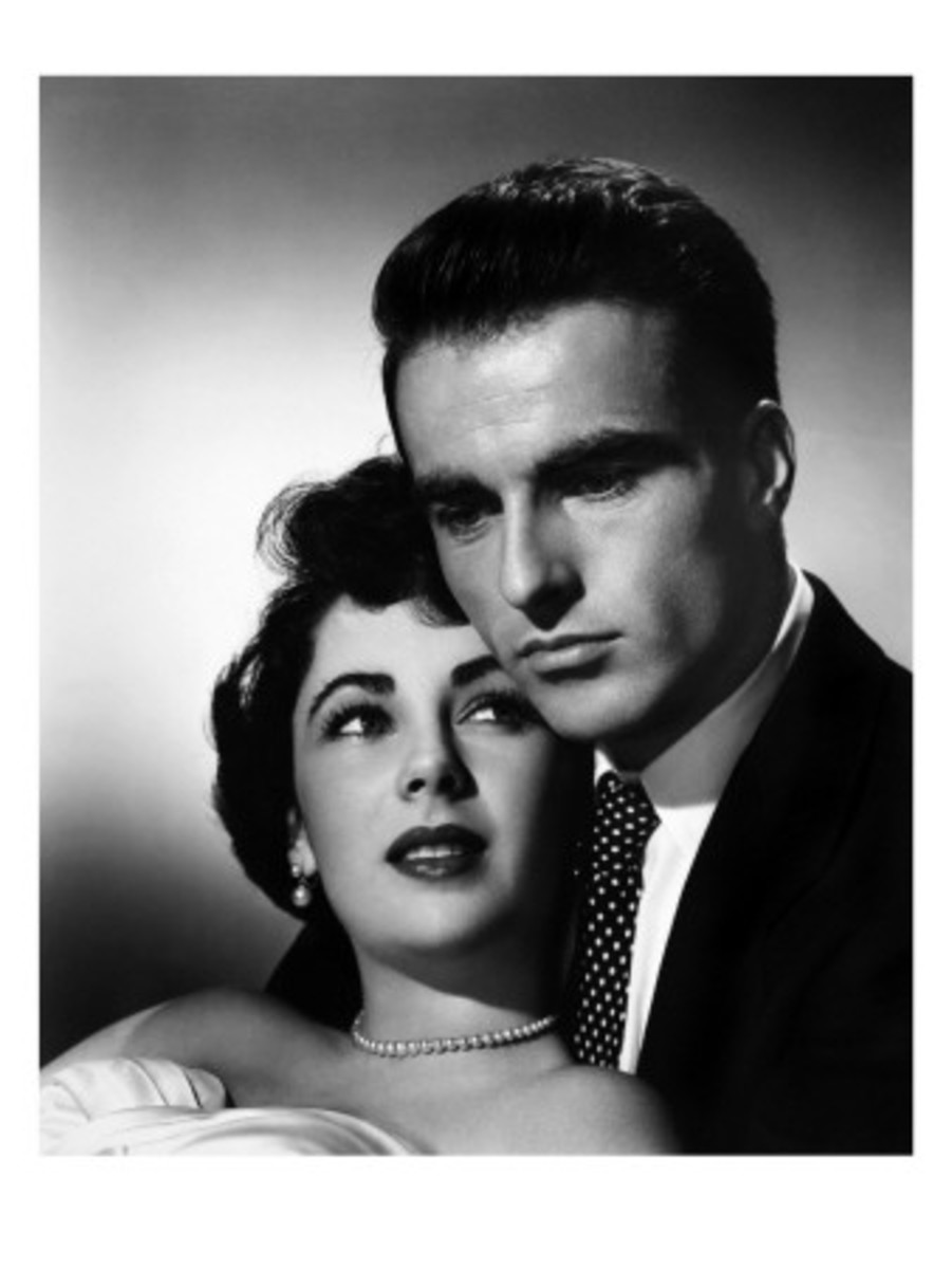 A Place in the Sun, Liz with Montgomery Clift, 1951