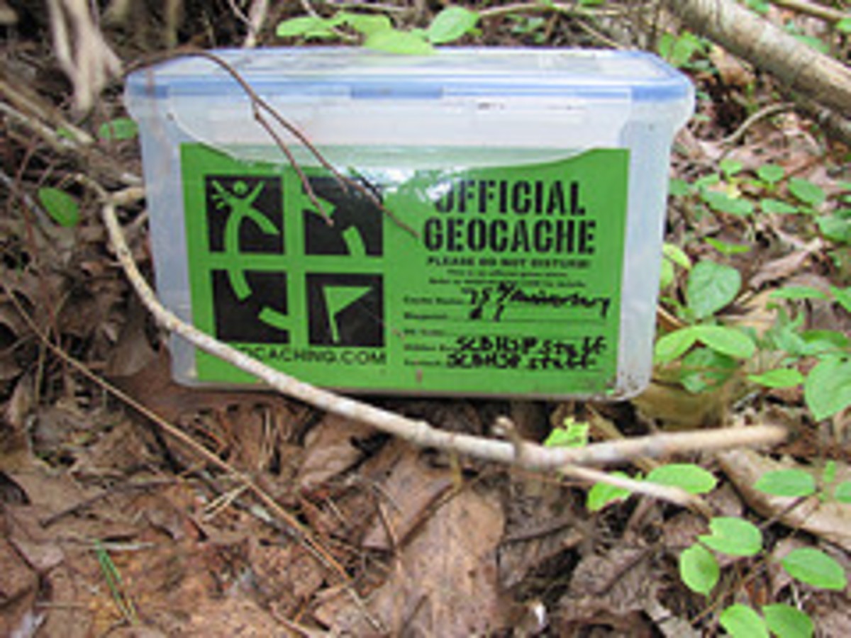 A Traditional Geocache With Label