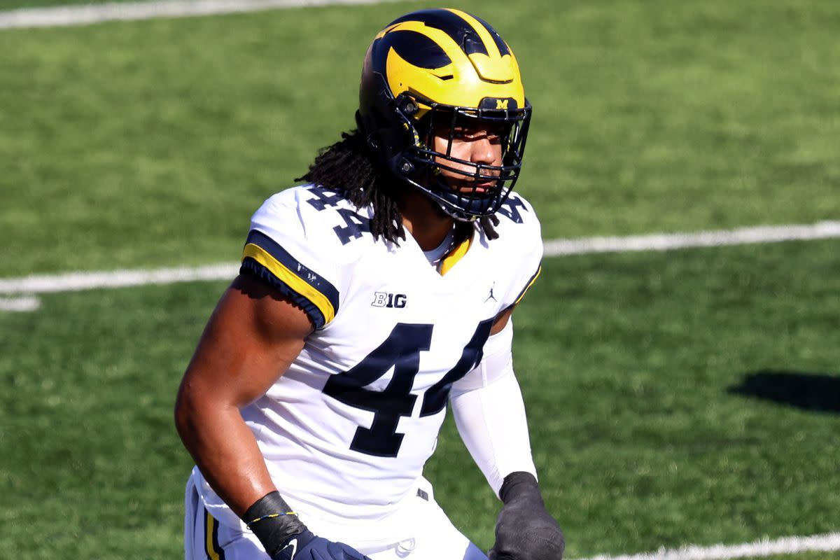 The Patriots add Cameron McGrone from Michigan with the 177th pick in the 5th round.