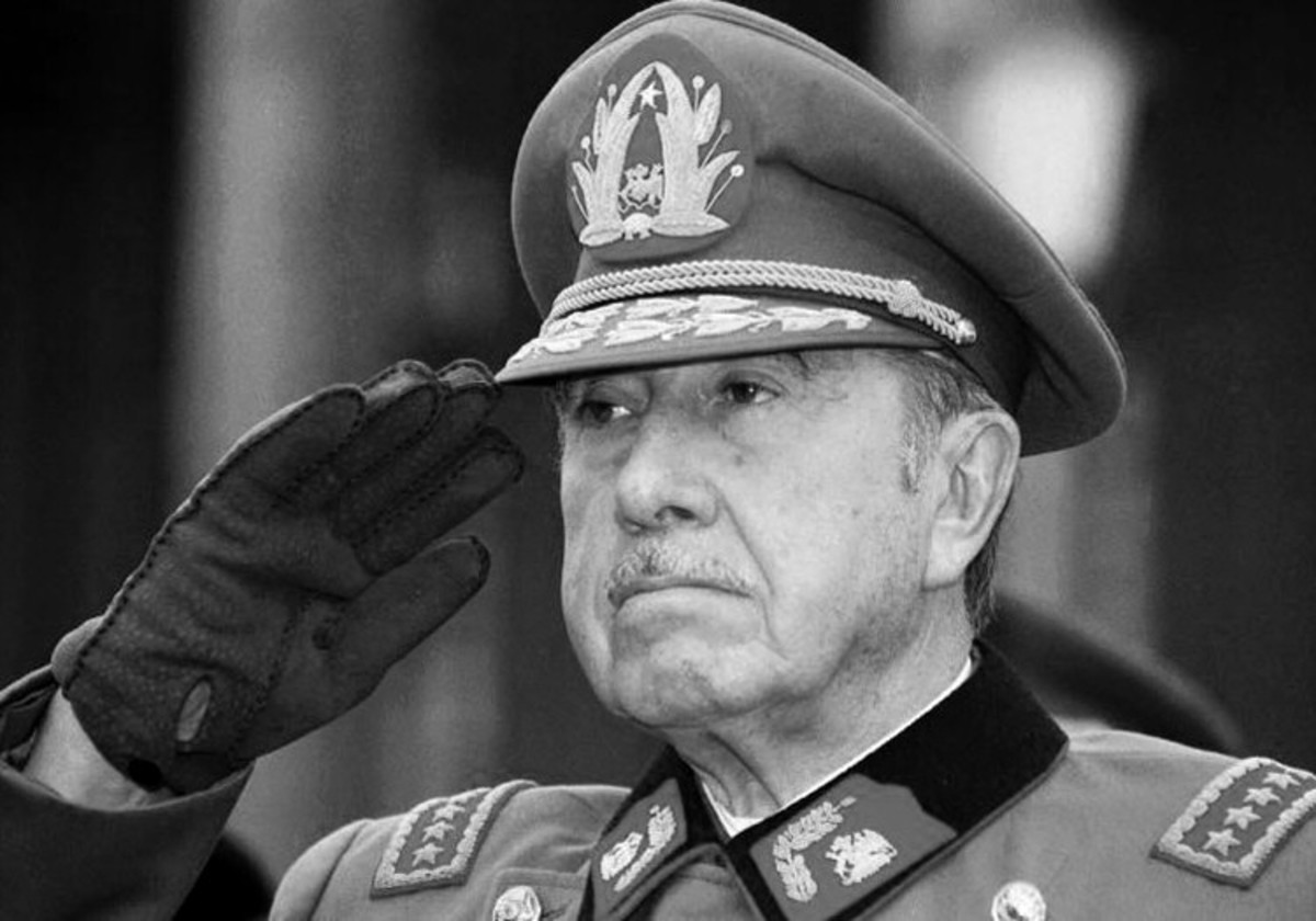 Ex-Chilean President, Augusto Pinochet, known for his violent regime and collaboration with Colonia Dignidad.