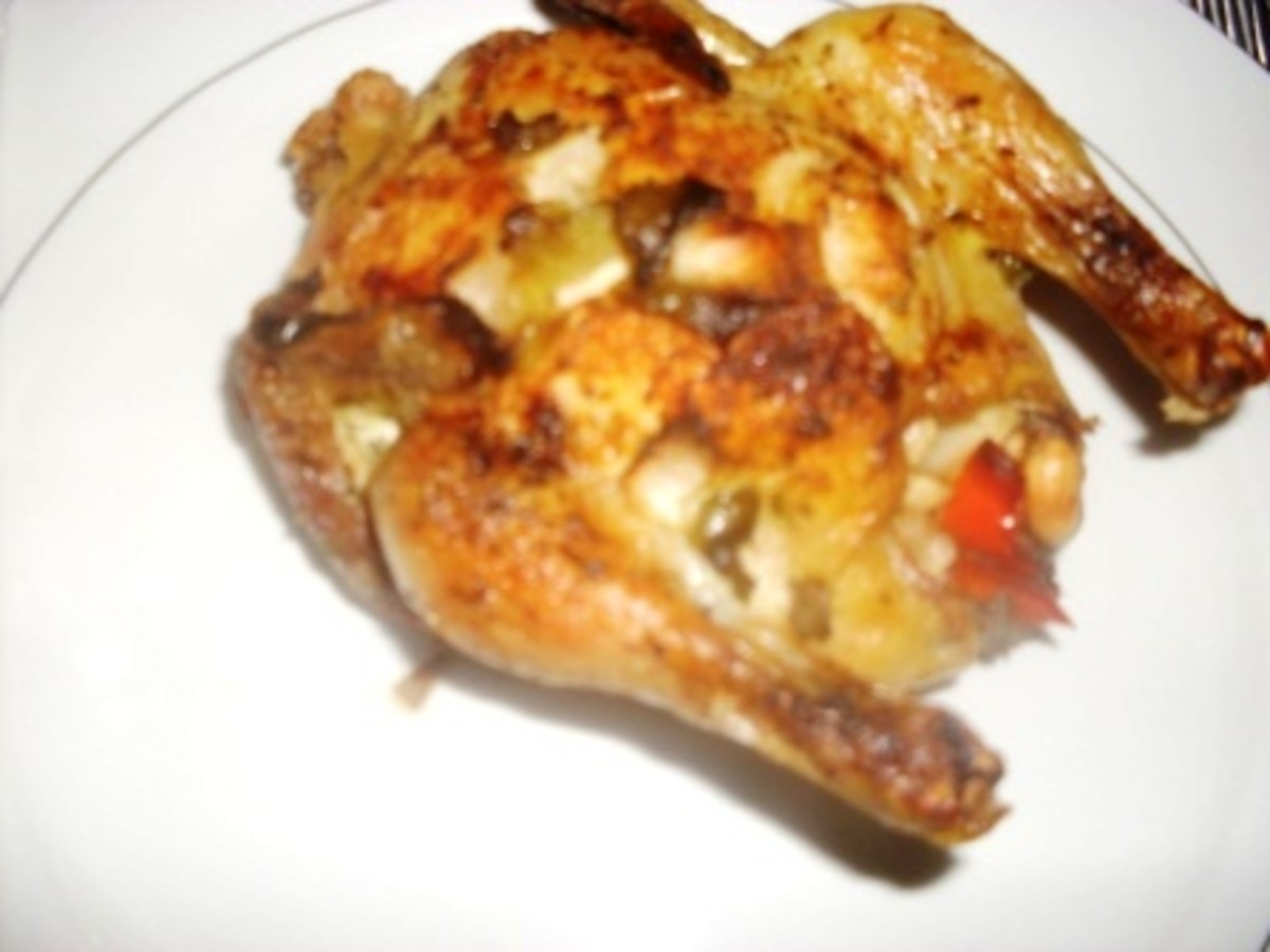 Recipe for How to Make a Delicious Cornish Hens Dinner (food photo: cornish hen with peanut