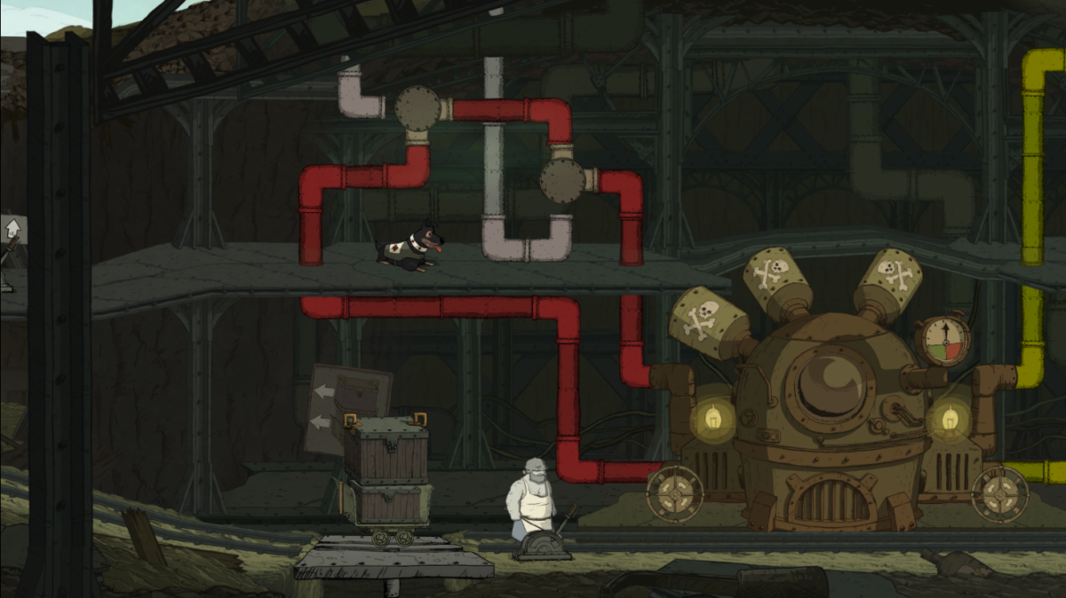 Emile solves a poison-spewing puzzle in Valiant Hearts.