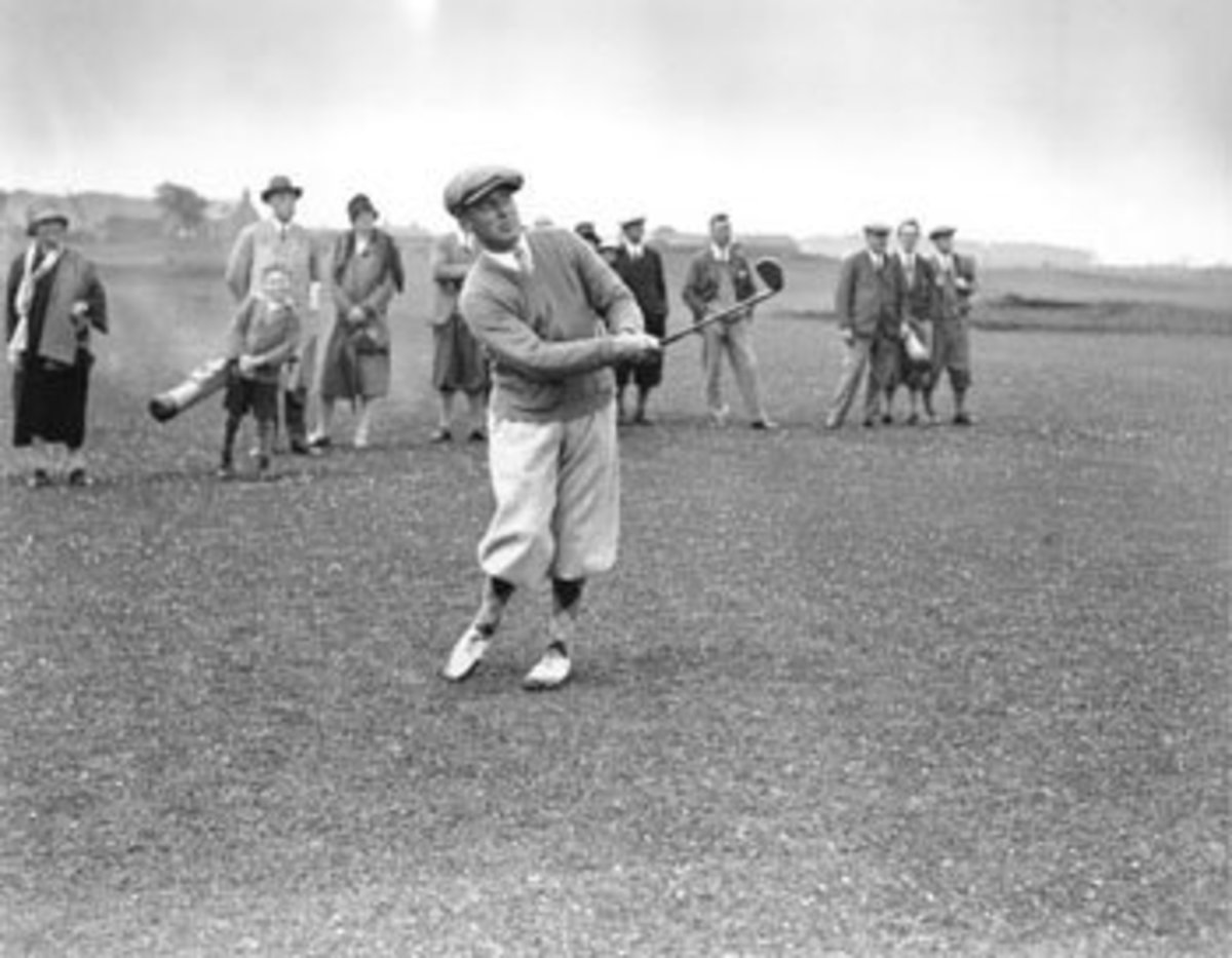 Jones, Pictured at St. Andrews in 1927.