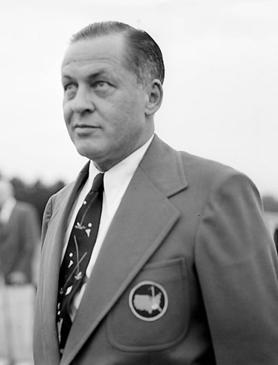 Jones wearing a Green Jacket from the Masters. Unknown Year.
