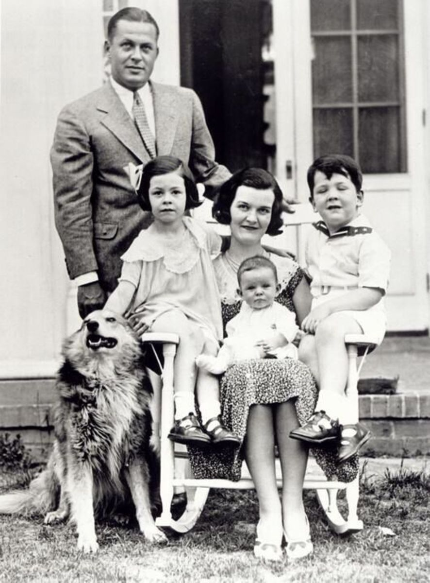 Bobby Pictured with Mary Malone and their 3 children.