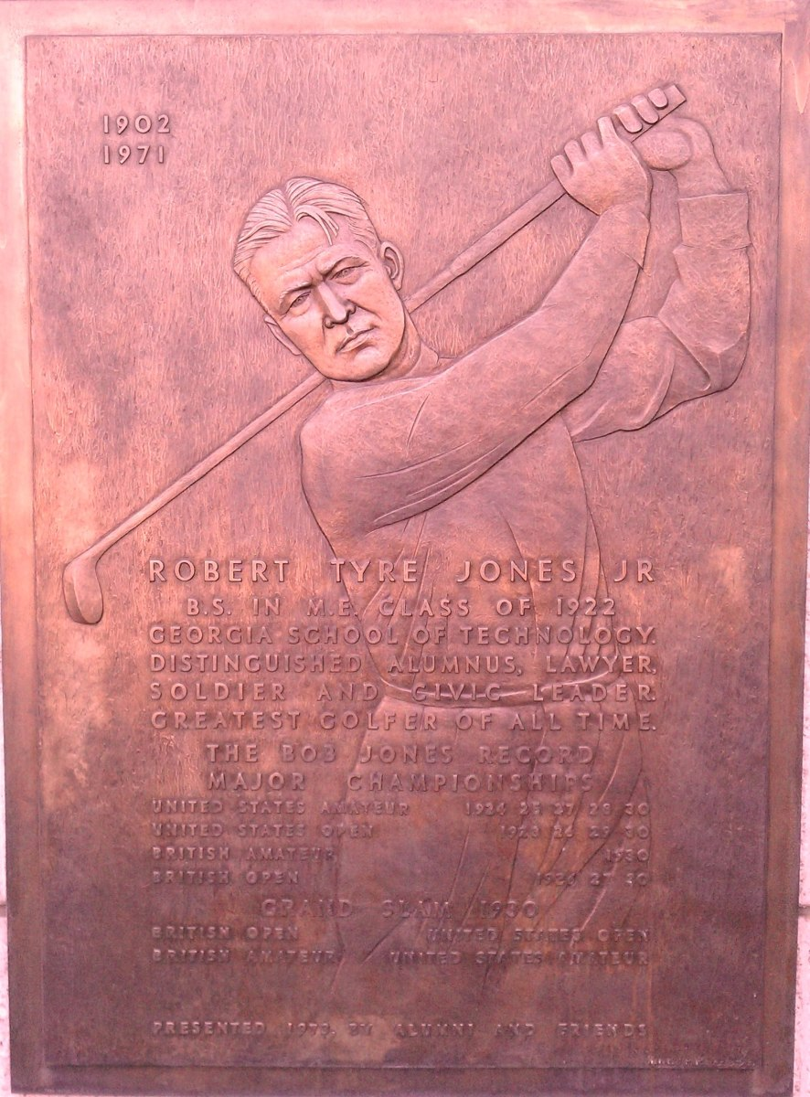 Plaque Honoring Jones at Georgia Tech.
