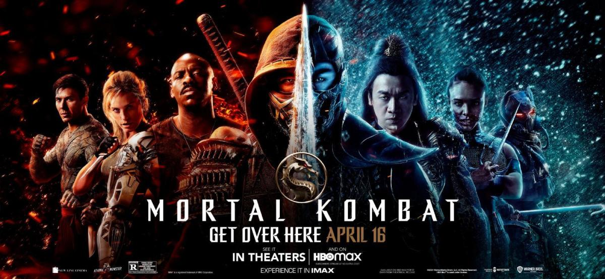 The promotional and theatrical release poster for the film, Mortal Kombat!