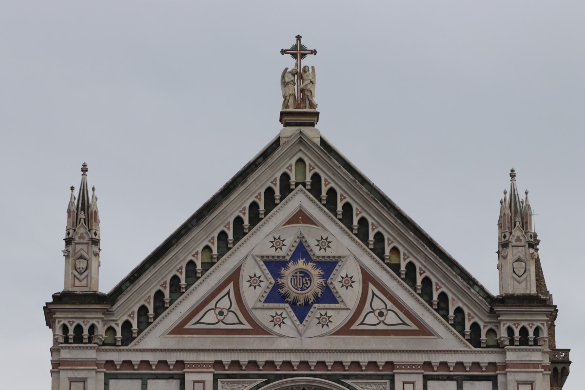 The Star of David is the symbol of Judaism. It signifies Yahweh, the Jewish God. It is usually used as a decoration in Jewish sacred buildings.