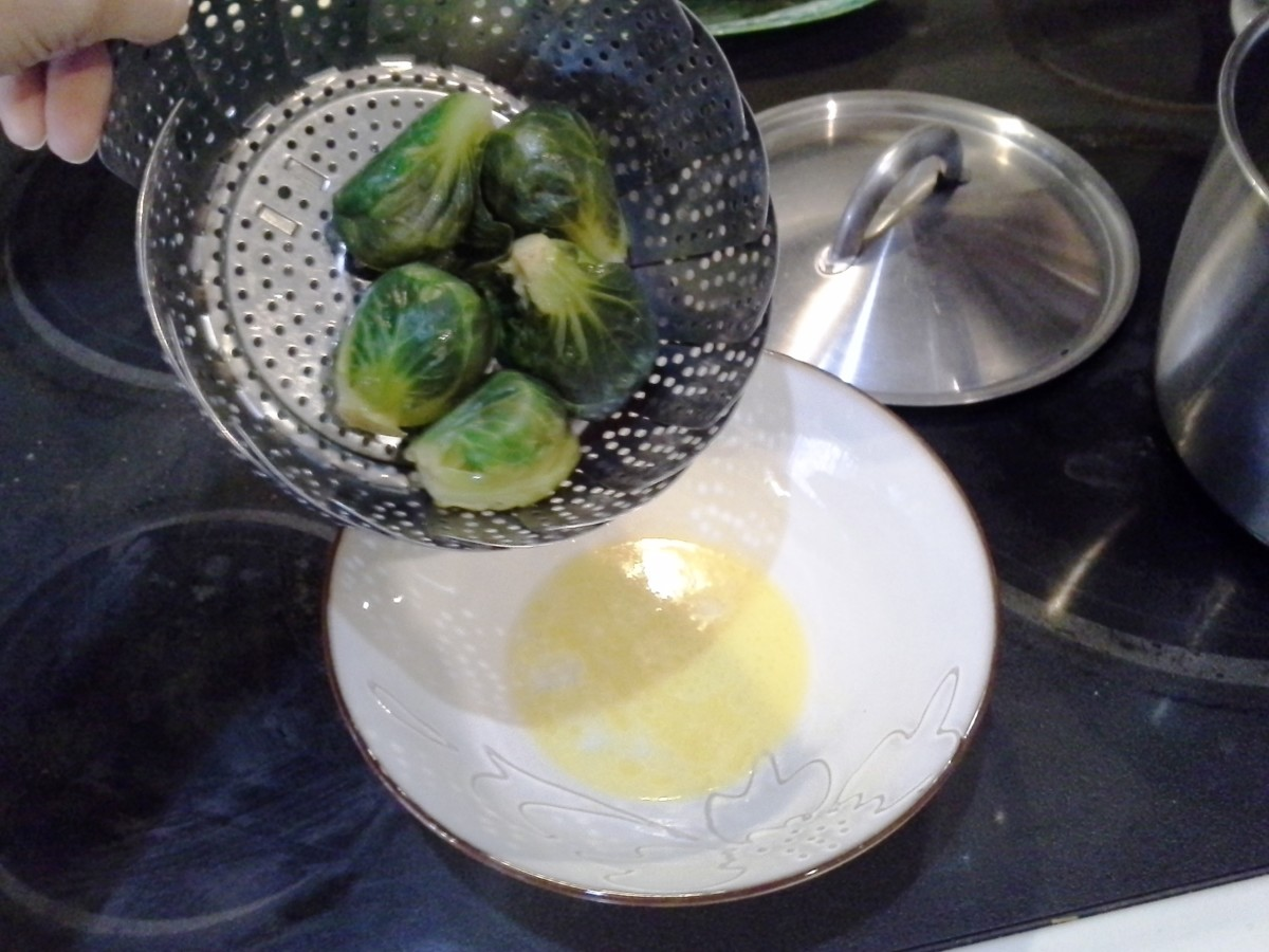 Step Eight: Pour your finished brussel sprouts into your bowl