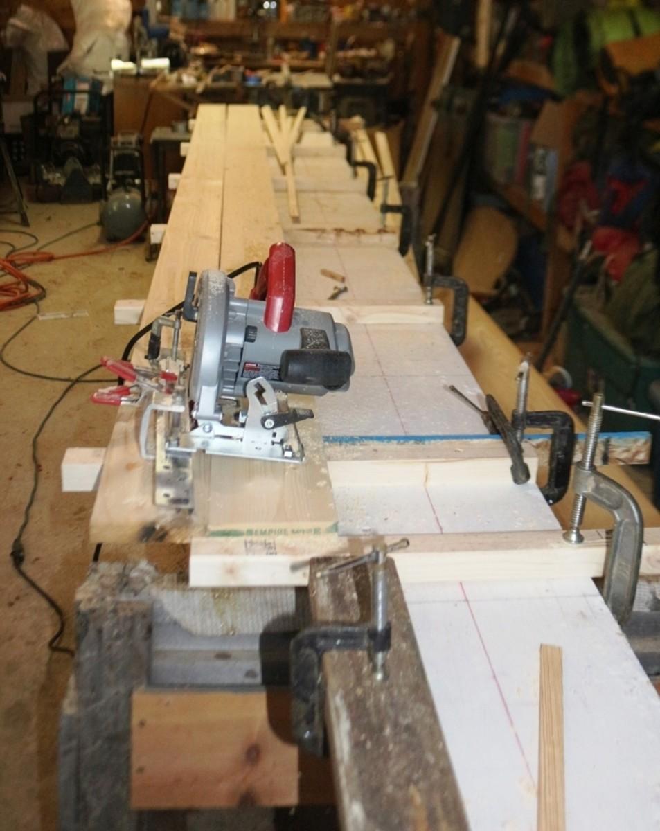 cutting strips with circular saw