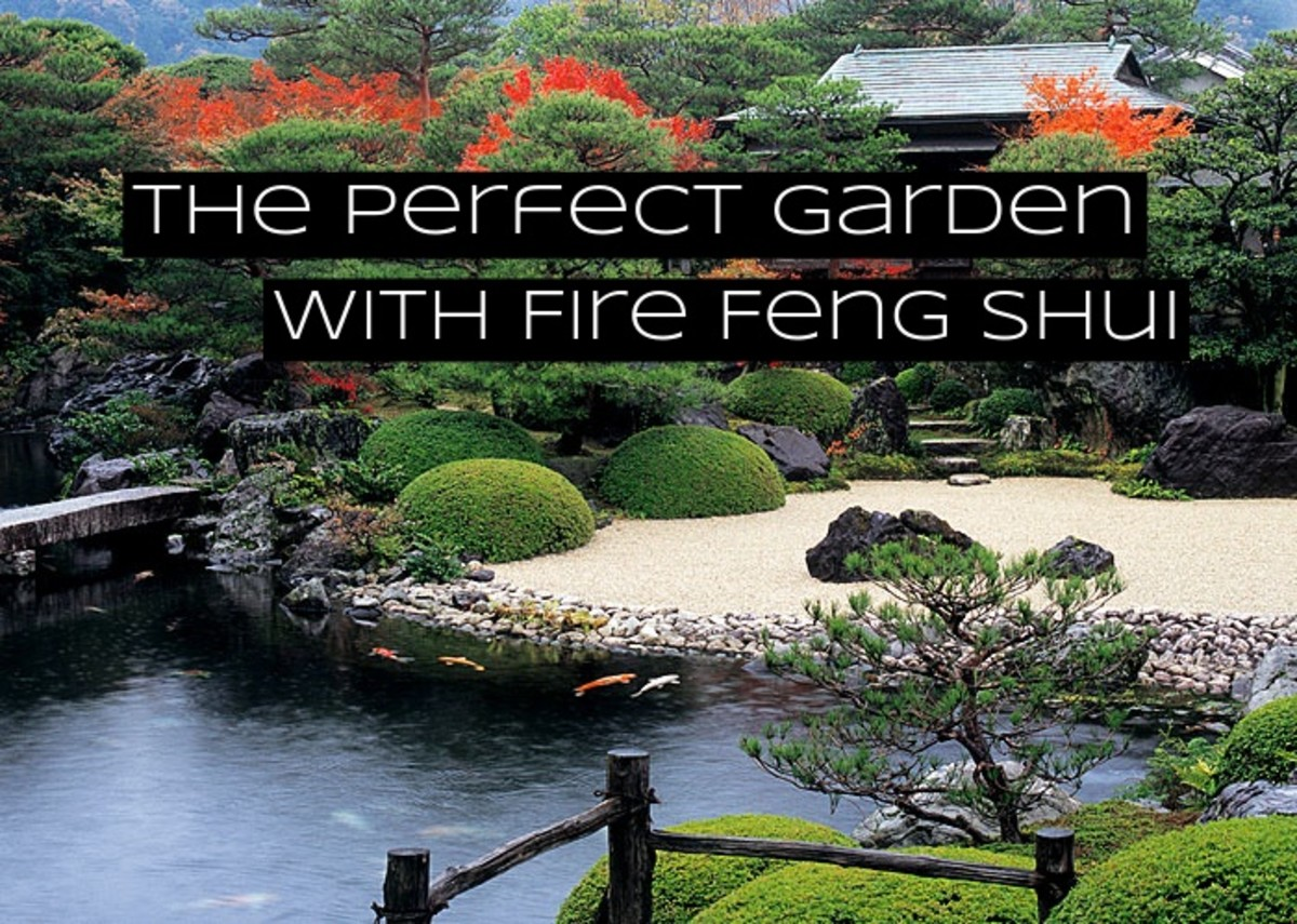 Designing a garden with feng shui takes care and practice. You want all the elements to work together and be balanced. The five elements are fire, earth, metal, water, and wood.