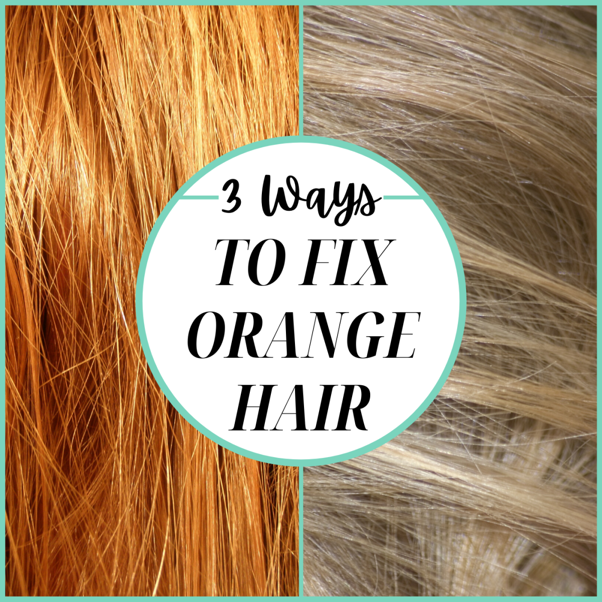 Tried to bleach or lighten your hair and ended up orange instead? Here are your three options.