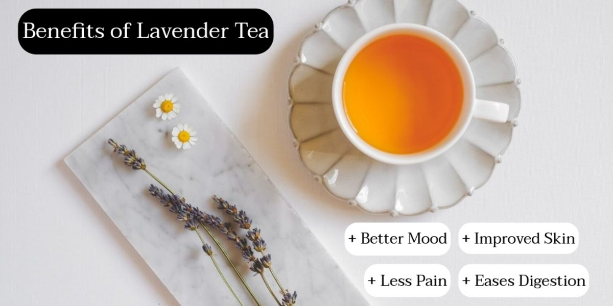 Lavender tea is another tea that's great for relaxation. Drink a hot cup of lavender while you take a bath. The soapy texture of the tea might bother some; others might find it works with berries.