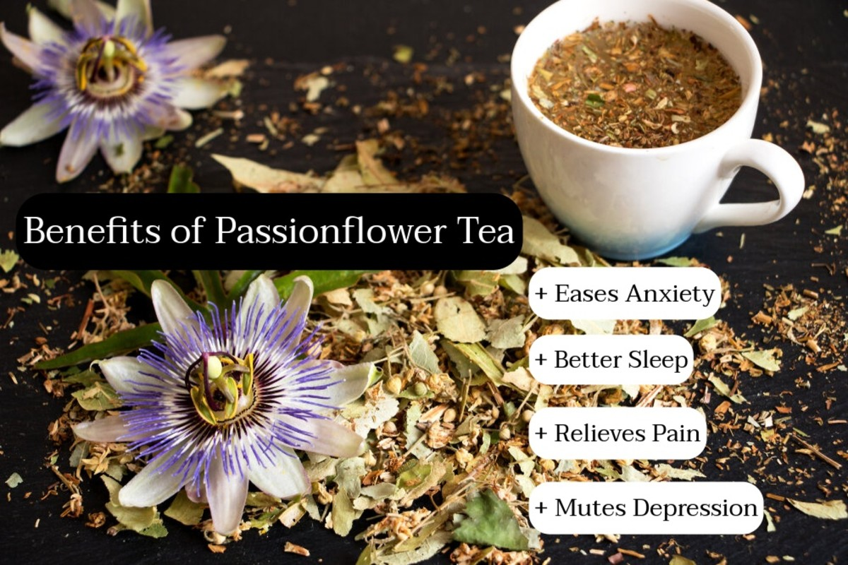 Passionflower tea will relax you to the point of making you feel sleepy. This is a good tea to drink right before bed.