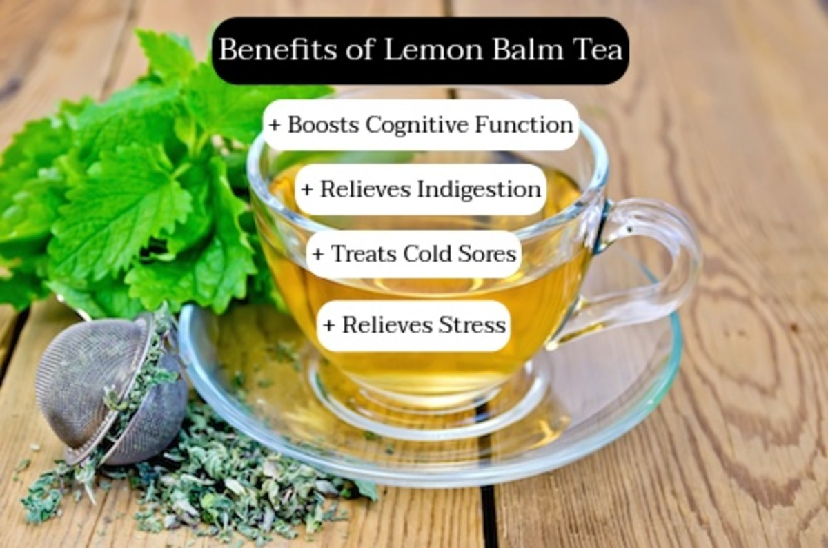 Lemon balm tea helps get your imagination going and your digestive system on track. Drink lemon balm tea during a meal.