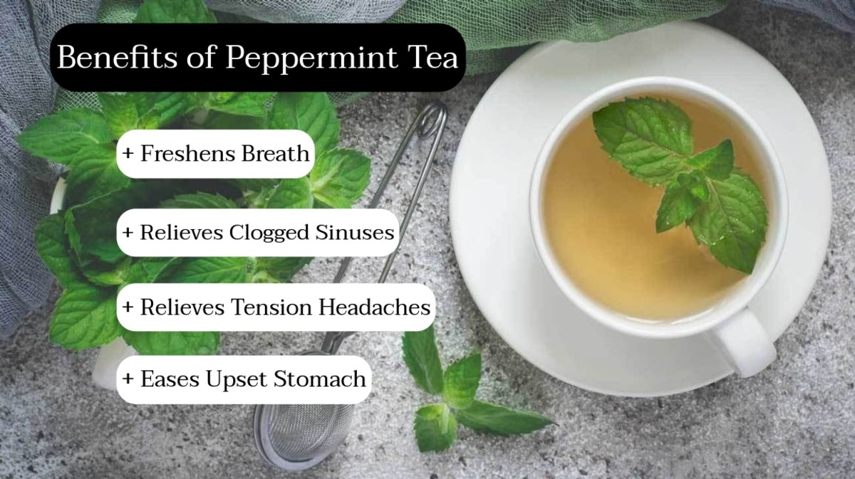 Drink peppermint tea to freshen your breath. This is a great tea to drink after a big meal, especially if you ate a meal with lots of onions and garlic.