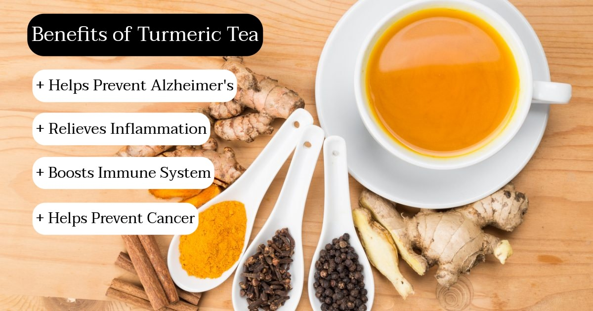 Start your morning off right with a cup of turmeric tea. It will help protect your body from various diseases and ease inflammation.