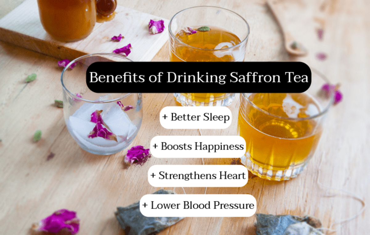 Saffron tea is great if you're wanting to boost your mood. Saffron makes you happy. It's good for your heart and supports your cardiovascular system.