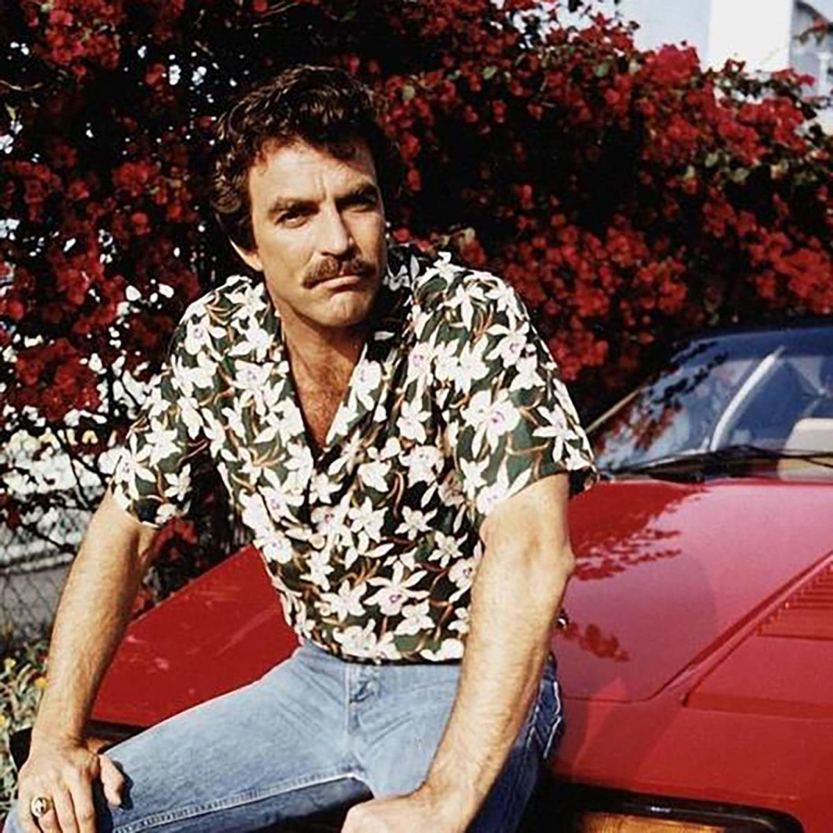 Tom Selleck in the Paradise Found Orchids Hawaiian Shirt