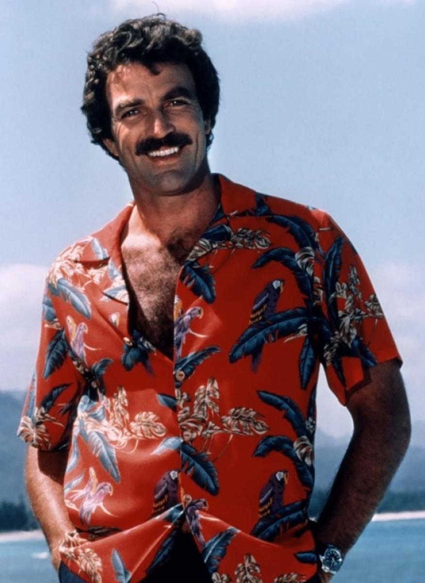 Tom Selleck in Magnum's Hawaiian Shirt, The Jungle Bird