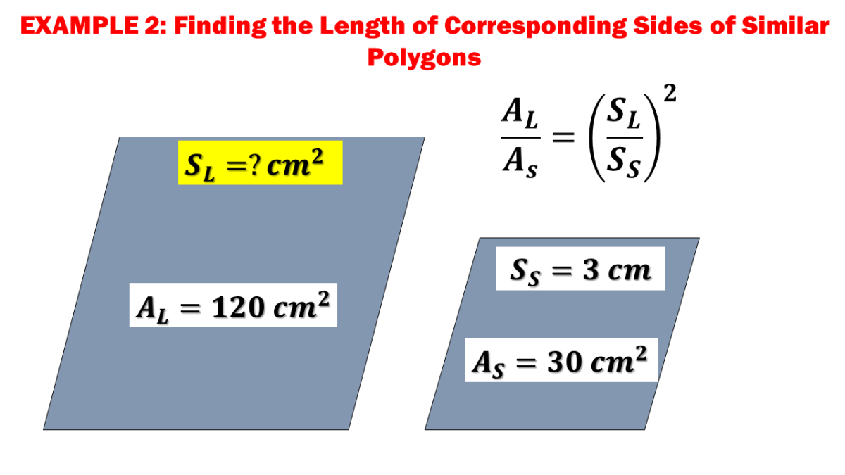 Example 2: Finding the Length of Corresponding Sides of Similar Polygons
