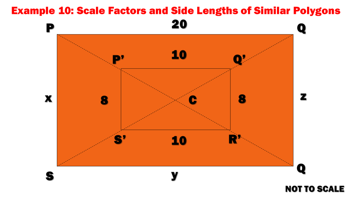 Example 10: Scale Factors and Side Lengths of Similar Polygons