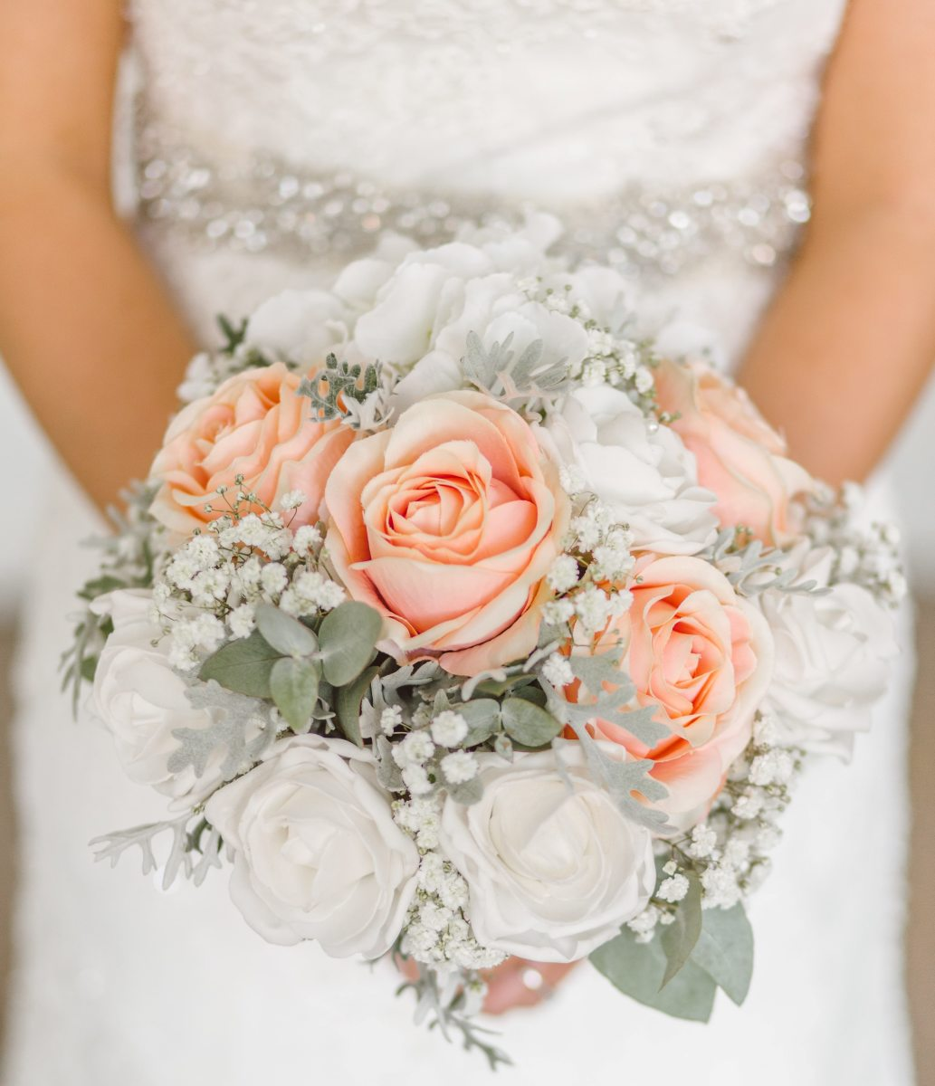 Wedding Bouquet with Three Flowers