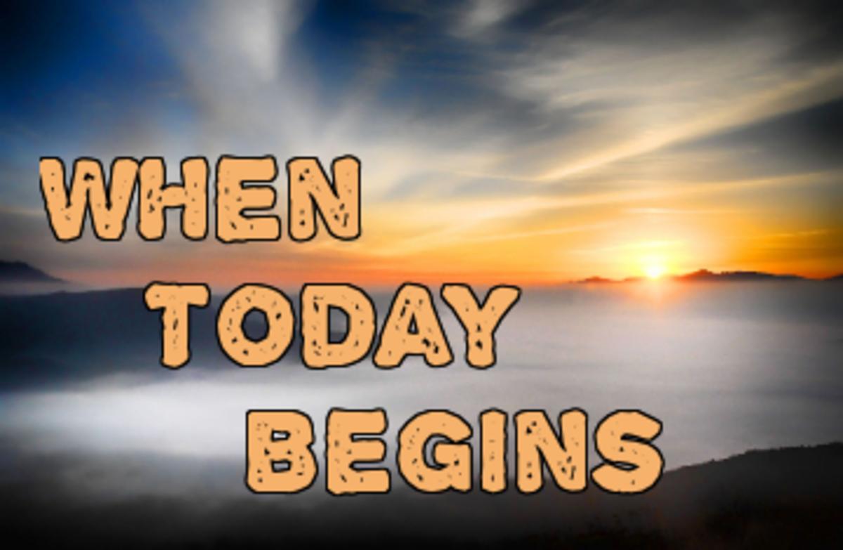 Poem: When Today Begins