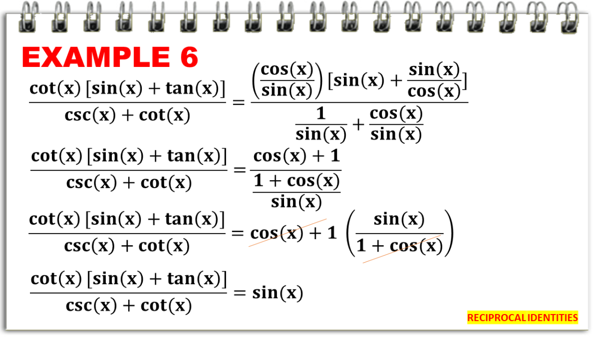 Simplifying Expressions Using the Reciprocal Identities