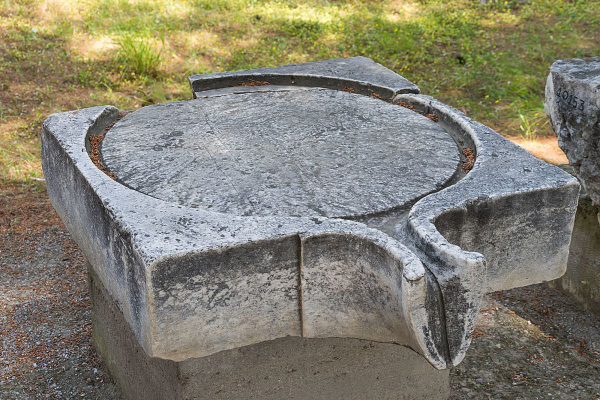 Piece of an ancient wine or olive press.
