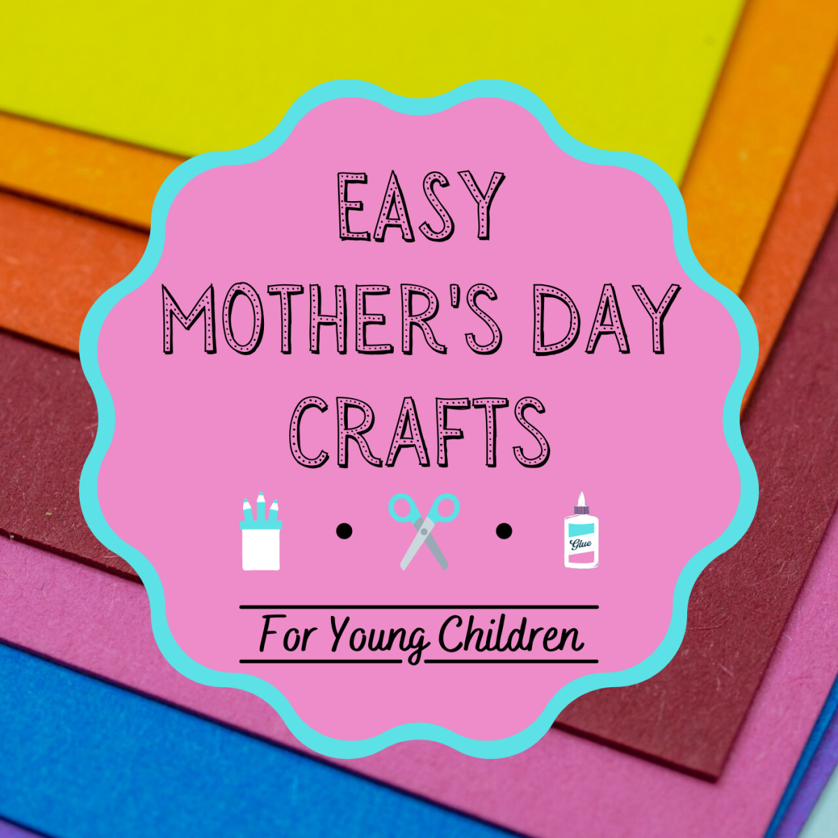 These four crafts are perfect for younger children to do with a parent or teacher.