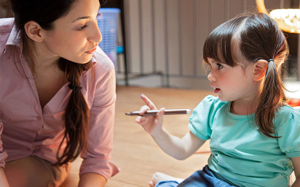 It's a child right to ask questions, and it is the mother's right to answer them.