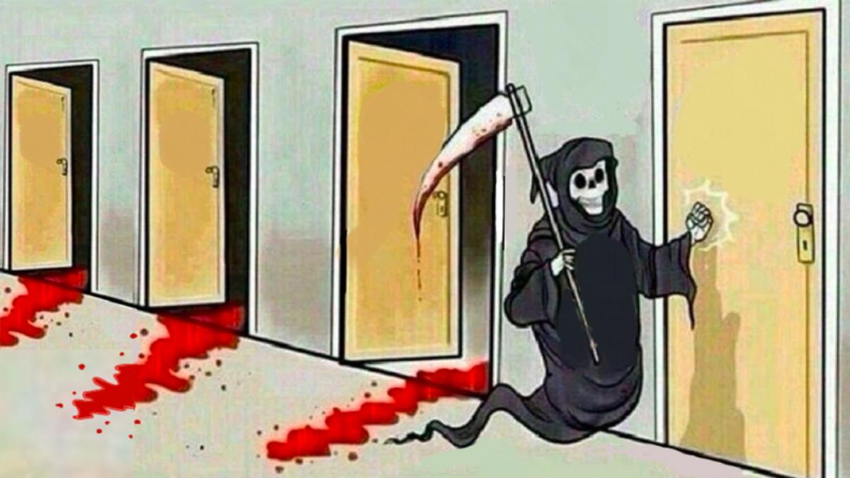 Death knocking on doors Meme
