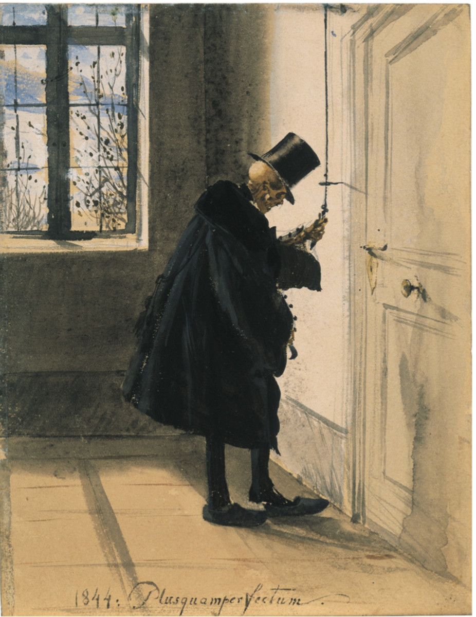 Death as an Unwelcome Guest by Adolph Menzel 1844/1845