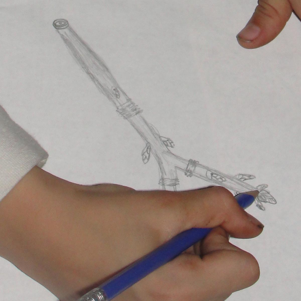 Drawing a twig