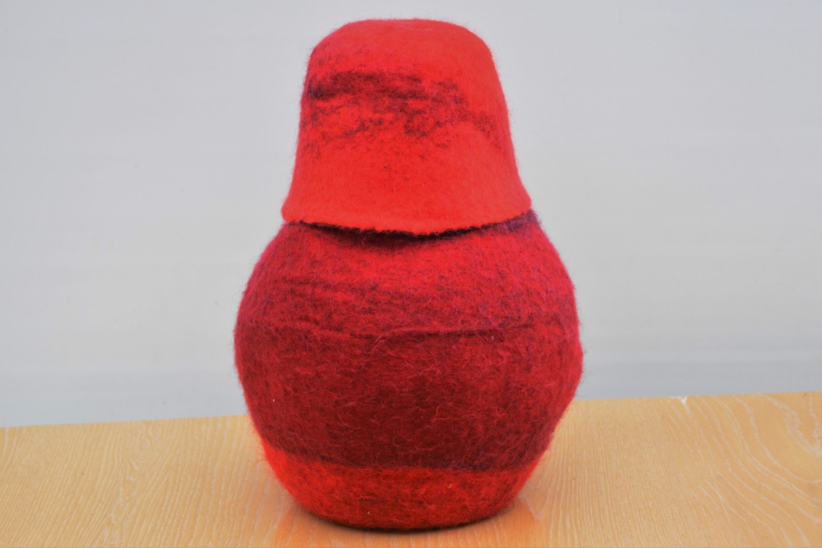 How to Make a Wet Felted Vessel With a Matching Felt Lid