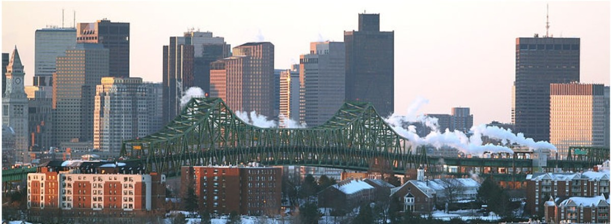 Tobin Bridge, Boston MA.  This is where I sometimes experience gephyrophobia