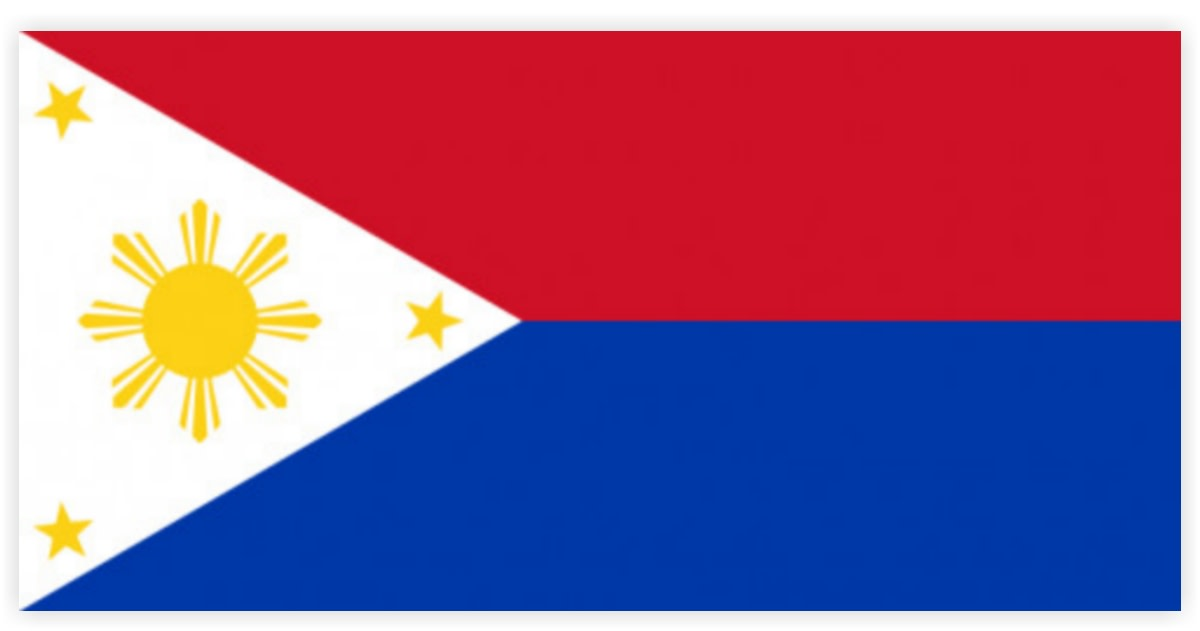 An inverted version of the Philippine national flag signifies that the country is in a state of war.