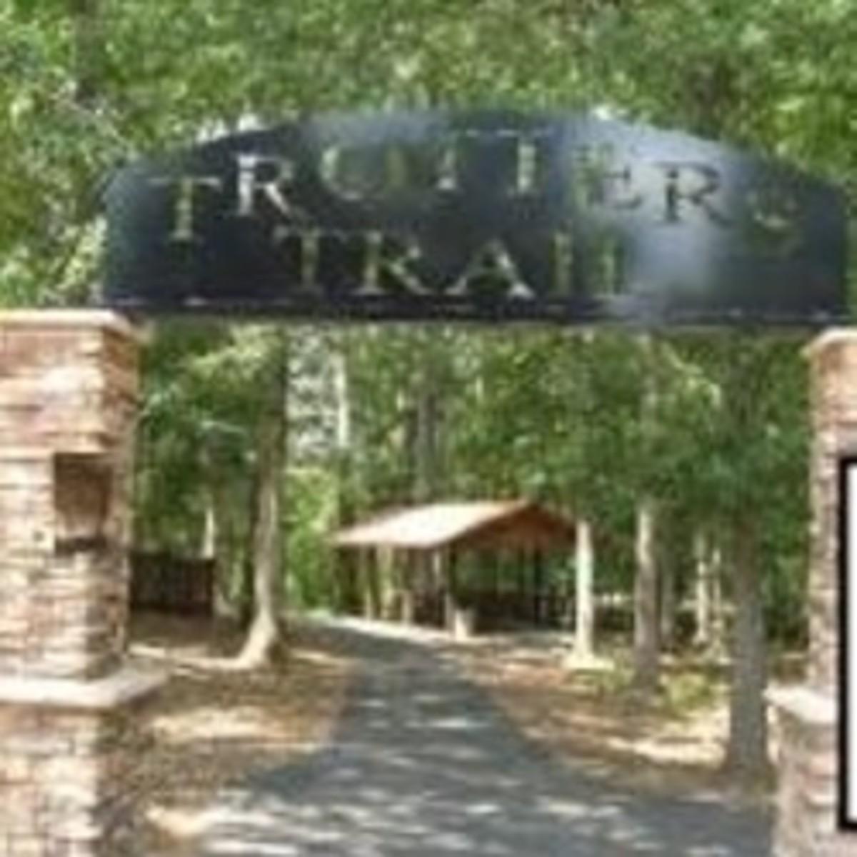 Trotter's Trail at Veterans Park in Pendleton SC