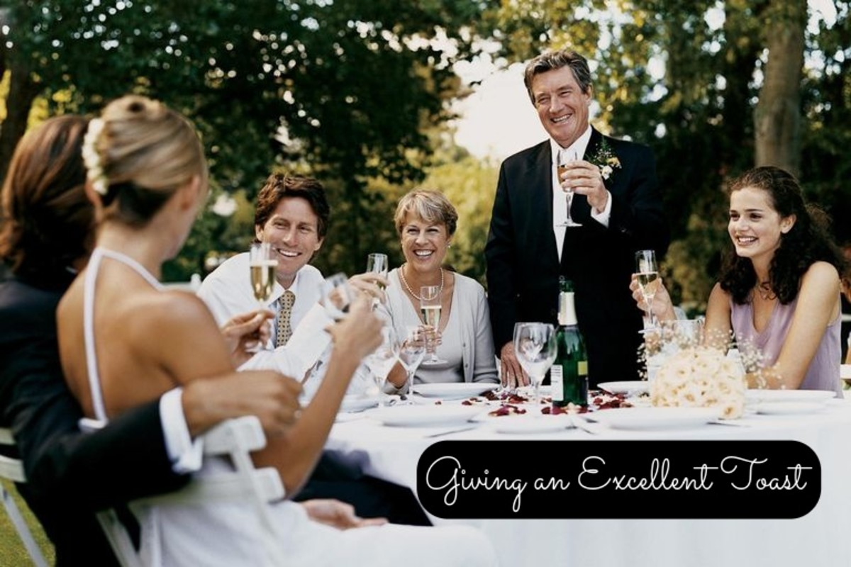 Giving toasts are an important part of weddings. They can be awkward if you're under prepared. If you cultivate a good speech, it'll help ease your nerves.
