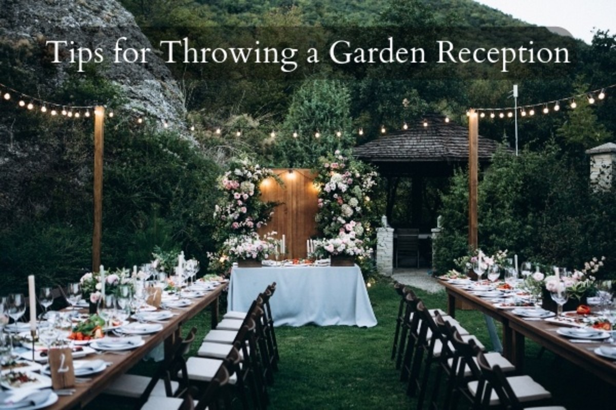 A garden reception takes extra work to make sure the space is right for the day of the party. Everything needs to look like it has been setup and considered.