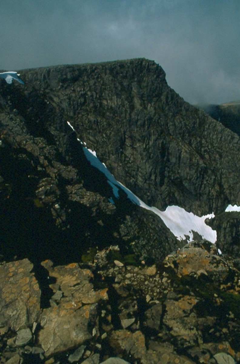 Tower Ridge, which drops down from the summit of Ben Nevis.