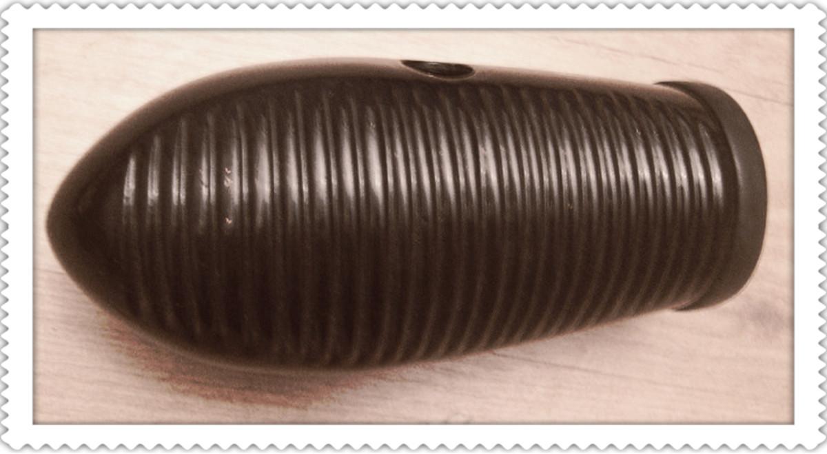 A modern fibreglass guiro