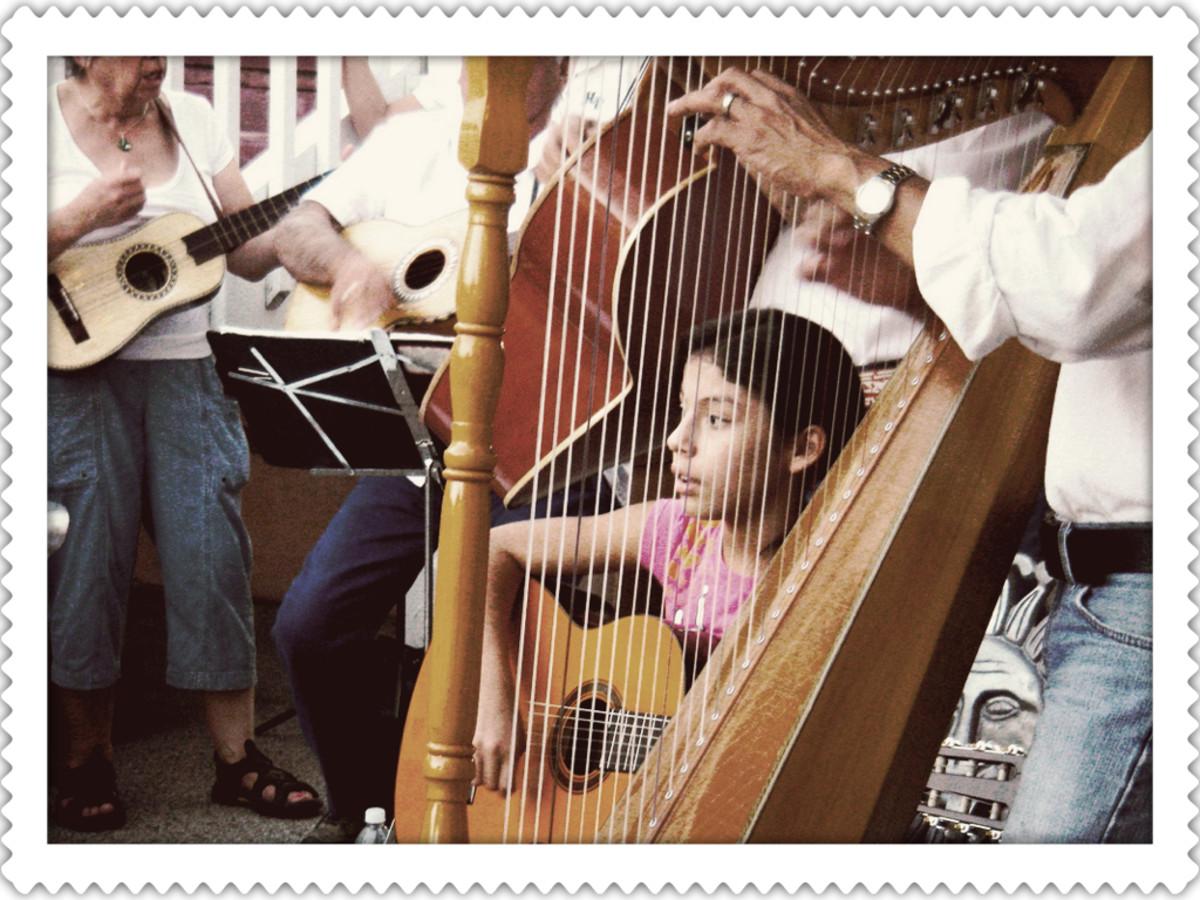 A Mexican Mariachi Harpist