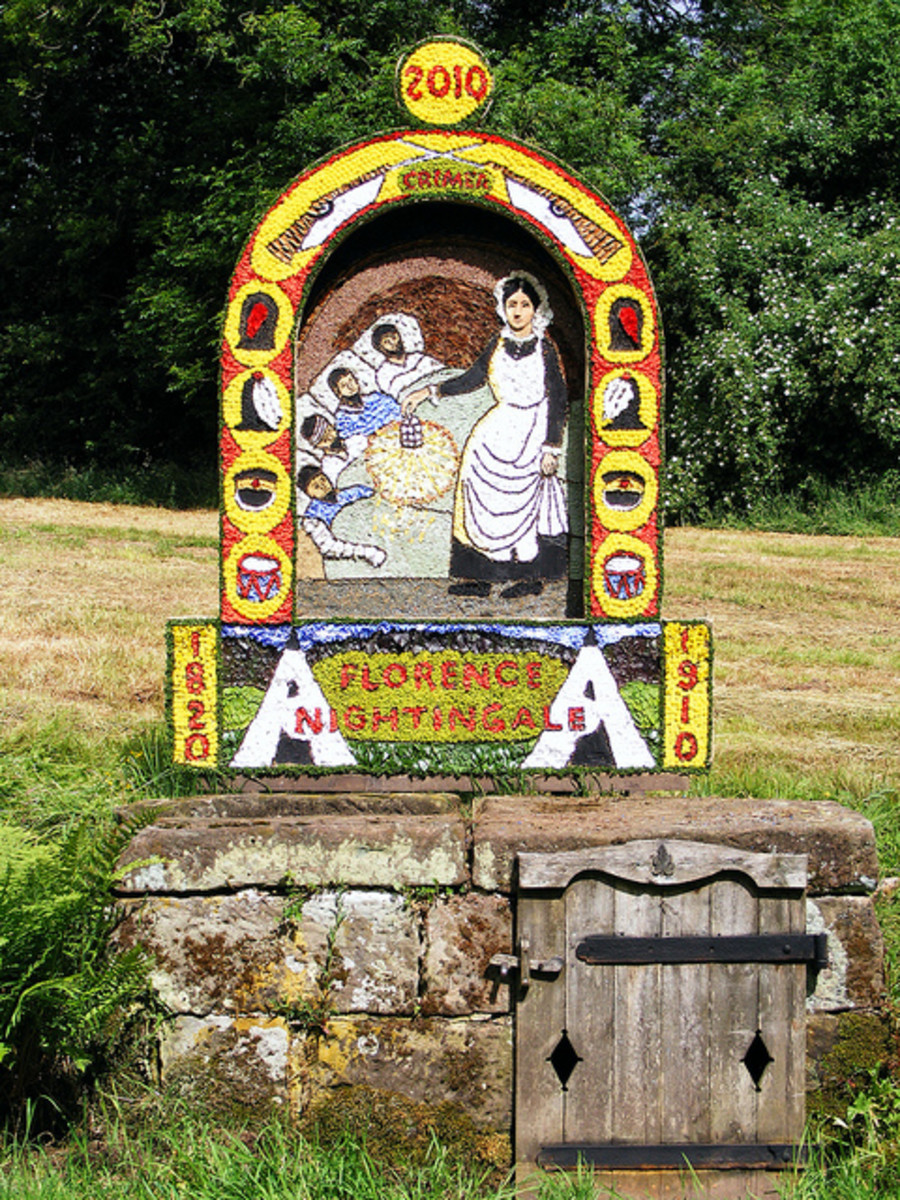 Ashborne, Derbyshire, well dressing
