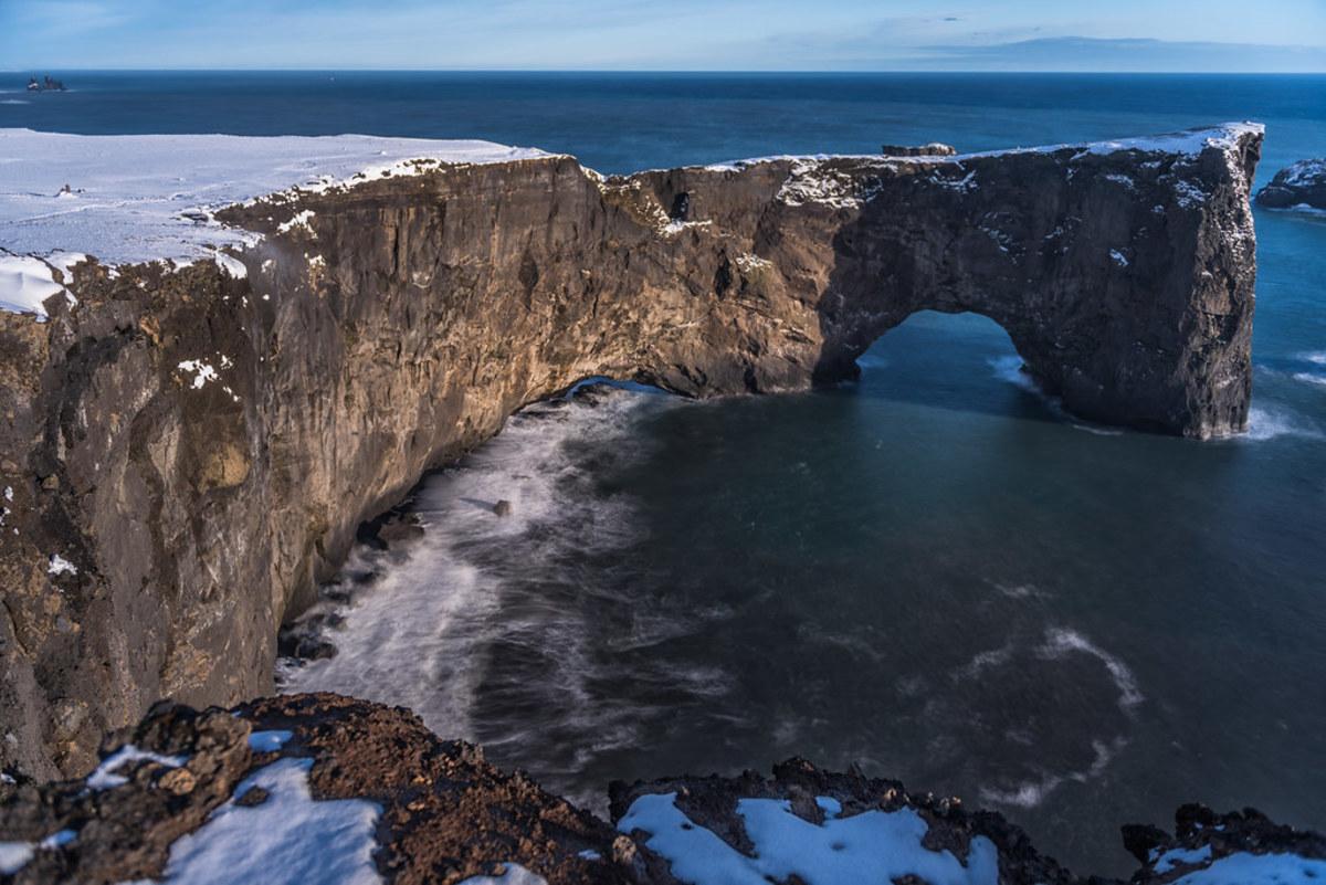Dyrhólaey peninsula on the south coast of Iceland near Vík
