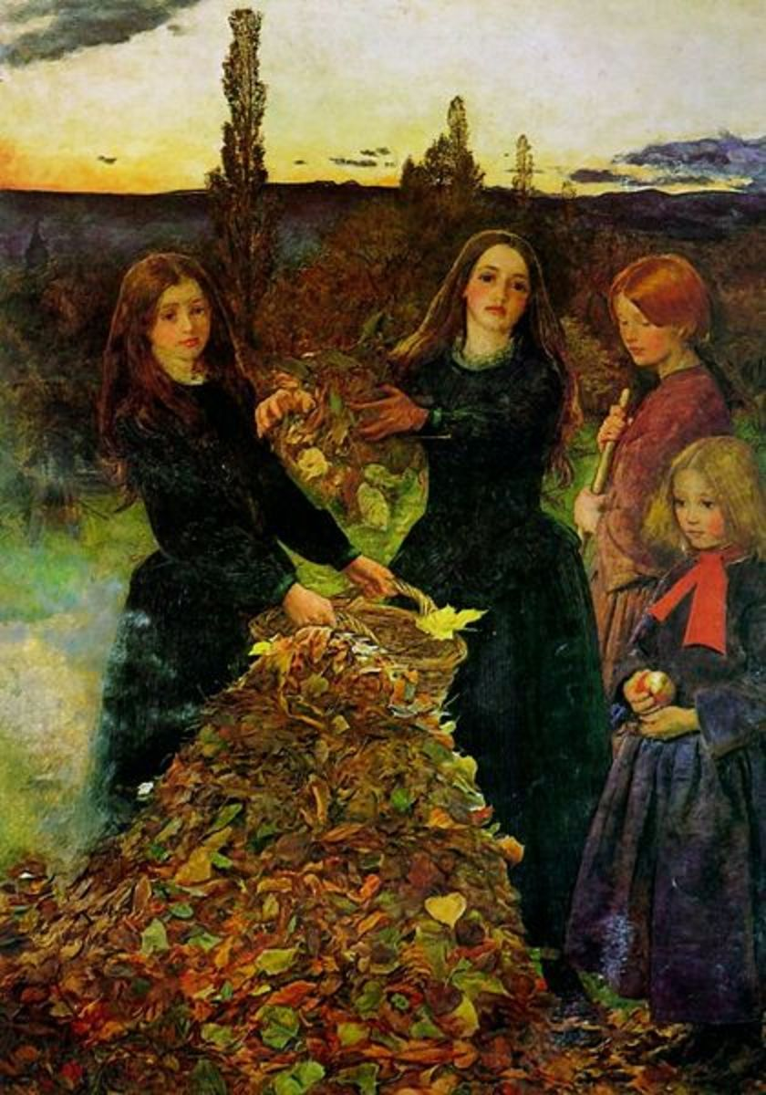 Autumn Leaves painting by John Everett Millais