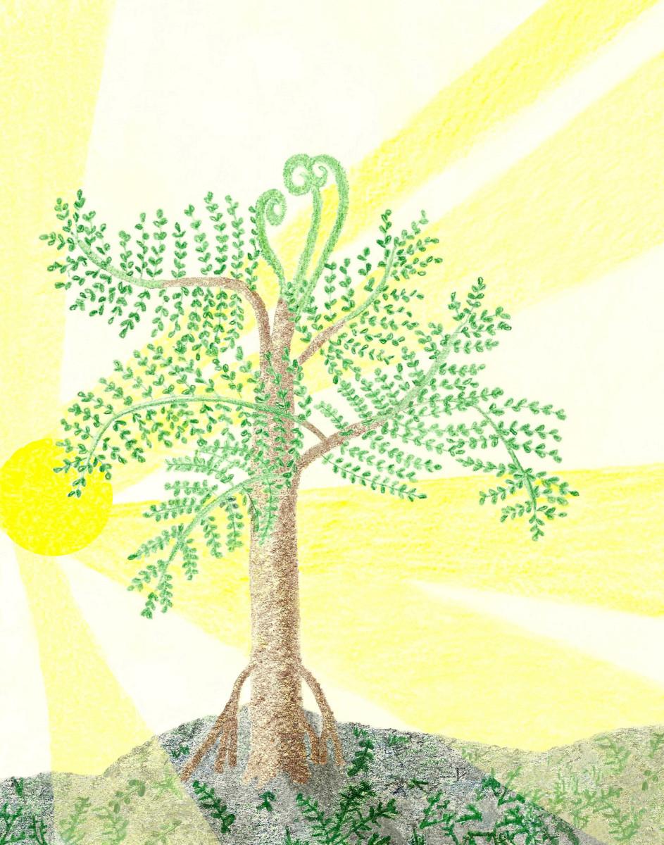 ANCIENT PSARONIUS FERN TREE RENDITION